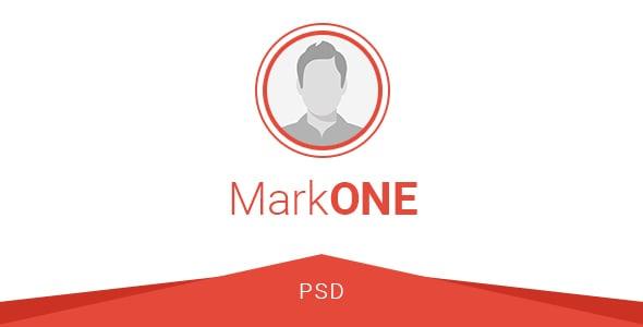 MarkONE - OnePage Resume PSD Template