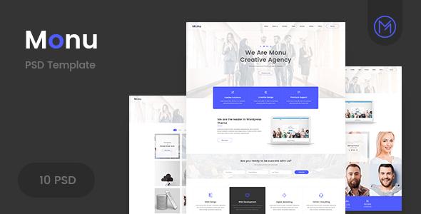Monu | Agency & Business PSD Template