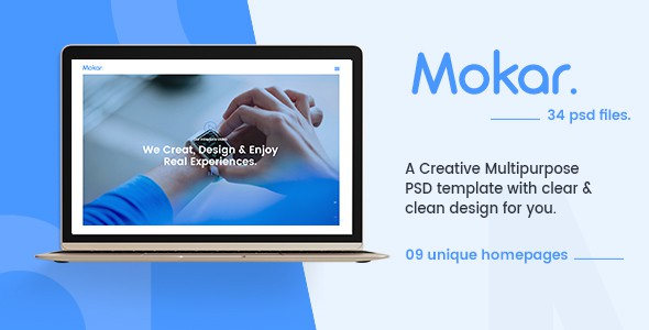 Morka - Modern & Unique Multipurpose PSD Template