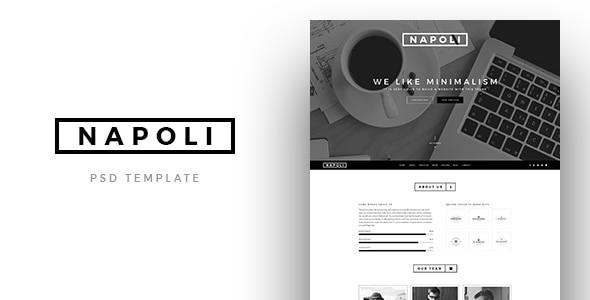 Napoli - Creative OnePage PSD Template
