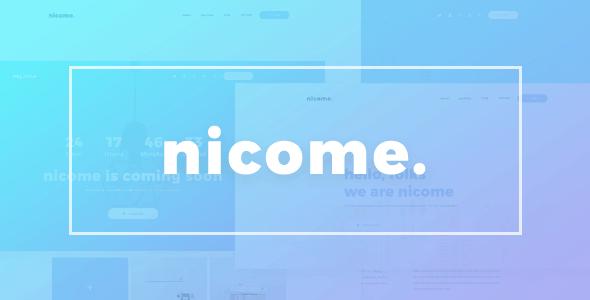 Nicome - Creative Multipurpose PSD Template