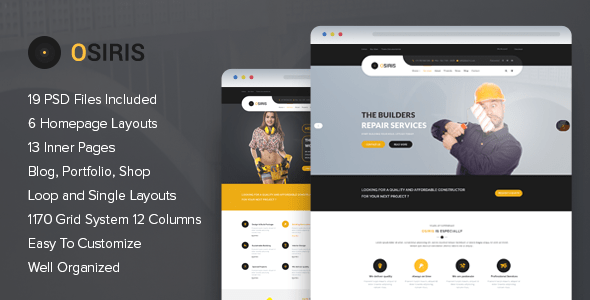 Osiris - Construction PSD Template