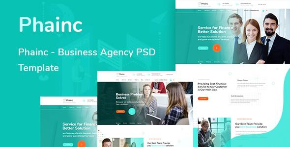Phainc  - Business Agency PSD Template