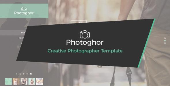 Photoghor - Creative Photographer PSD Template