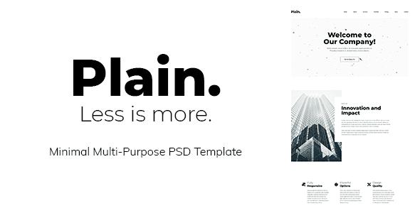Plain - Minimal Multi-Purpose PSD Template