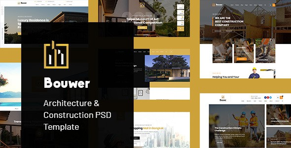 Bouwer - Architecture & Construction PSD Template