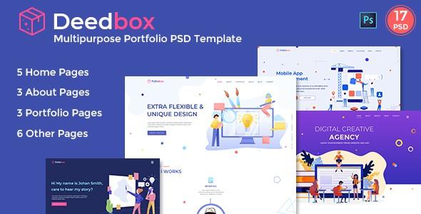 Deedbox - Multipurpose Portfolio PSD Template