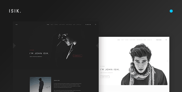 ISIK. — Creative Personal Portfolio PSD Template