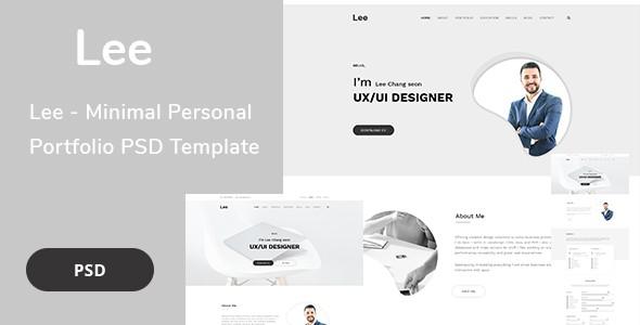 Lee - Minimal Personal Portfolio PSD Template
