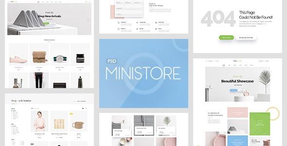 Mini Store - Accessories Shop PSD Template