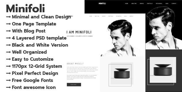 Minifoli - Personal Portfolio PSD Template