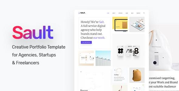 Sault - Creative Portfolio Template for Agencies, Startups & Freelancers