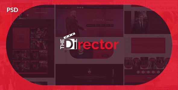 The Director - Film Director & Video Portfolio PSD Template