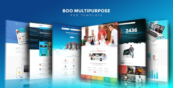 Boo | Creative - Cloud Hosting - University - eCommerce - Mobile App - Personal - Lawyer PSD