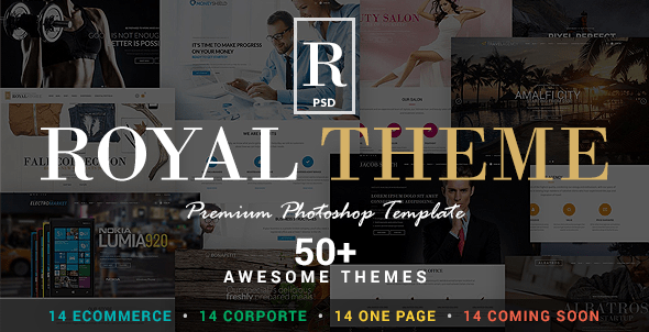 Royal - Corporate and E-Commerce PSD Theme