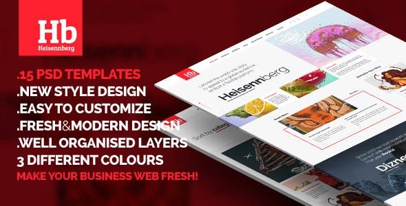 Heisennberg - Fresh New style PSD Design
