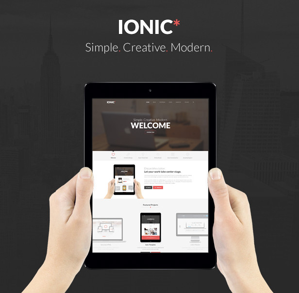 Ionic Multi-Purpose PSD Theme - 1