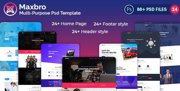 Maxbro-Multi-Purpose-Creative PSD Template